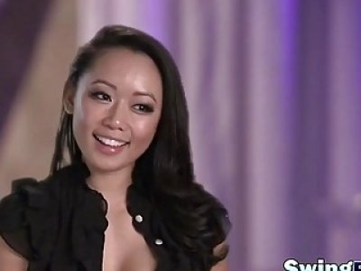 Swinger playing kinky games in reality show