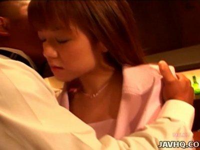 Rapacious wanker mauls cuddly body of Japanese cutie Nana Kawashima