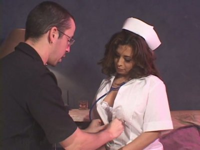 Crummy nurse Breana Tabu is seduced for sex by a patient