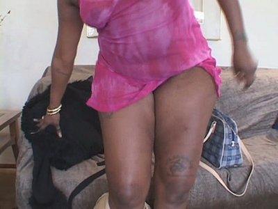 Ugly naughty blowlerina Bi Nature enjoys riding a stiff black cock